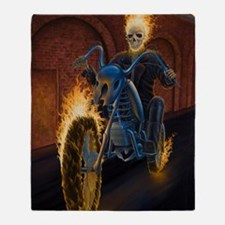 Fire Biker no text large Poster Throw Blanket