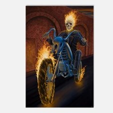 Fire Biker no text large  Postcards (Package of 8)