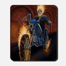 Fire Biker no text large Poster Mousepad