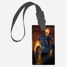Fire Biker no text large Poster Luggage Tag