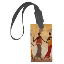 African Women Luggage Tag