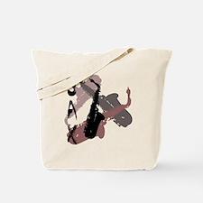 Graphic Sax Tote Bag