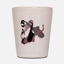 Graphic Sax Shot Glass