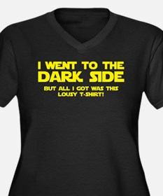I Went To The Dark Side Women's Plus Size V-Neck D