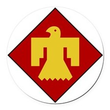 45th Infantry Division Round Car Magnet