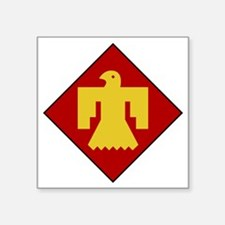 "45th Infantry Division Square Sticker 3"" x 3"""