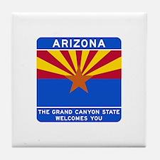 Welcome to Arizona - USA Tile Coaster