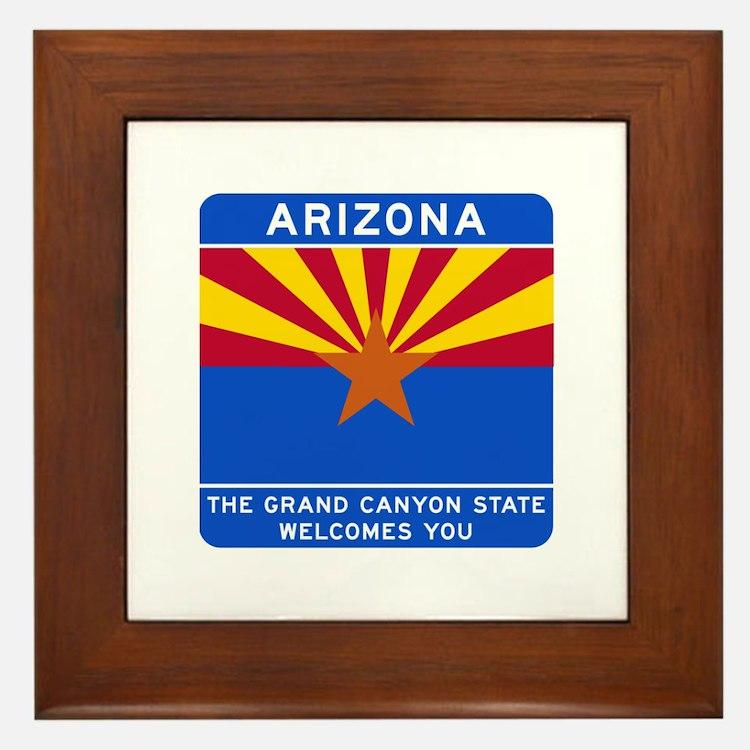 Welcome to Arizona - USA Framed Tile