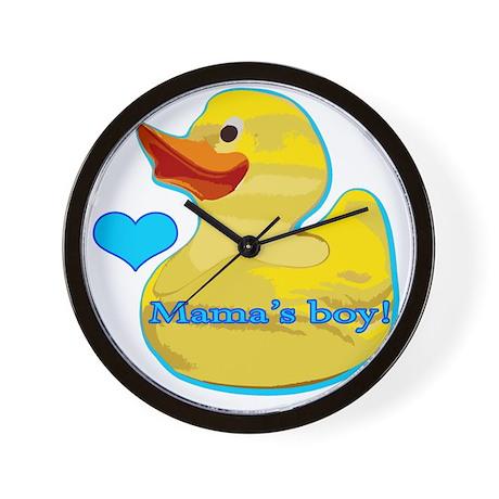 mamas_boy Wall Clock