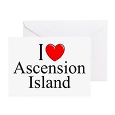 """""""I Love Ascension Island"""" Greeting Cards (Package"""