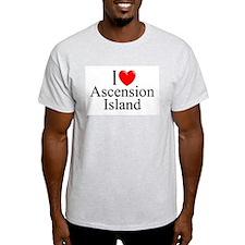 """I Love Ascension Island"" Ash Grey T-Shirt"