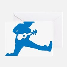 iUke Blue Greeting Card