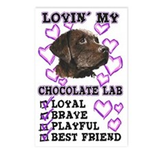 lovin_choc lab_mag Postcards (Package of 8)