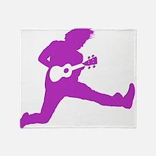 iUke Purple Throw Blanket
