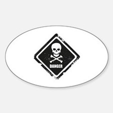 Danger Sticker (Oval)