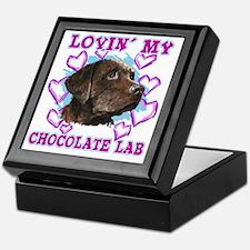 lovin_choc lab_dark Keepsake Box