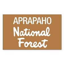 Arapaho (Sign) National Fores Sticker (Rectangular