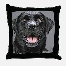 black lab_lg print Throw Pillow