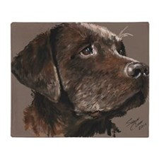 choc lab_lg print Throw Blanket