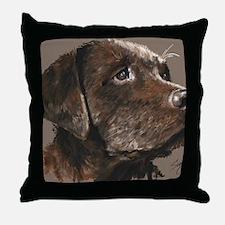 choc lab_lg print Throw Pillow