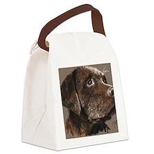 choc lab_lg print Canvas Lunch Bag