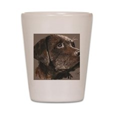 choc lab_lg print Shot Glass