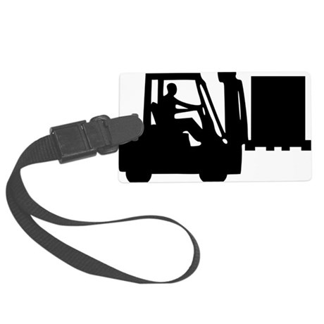 forklift_manbox Large Luggage Tag