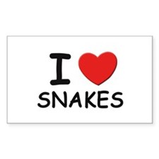 I love snakes Rectangle Decal