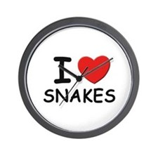 I love snakes Wall Clock