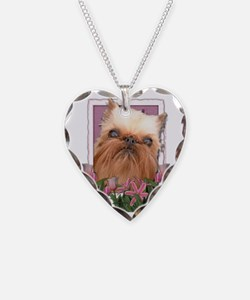 Pink_Tulips_Brussells_Griffon Necklace