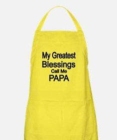 My Greatest Blessings Call Me PAPA Apron