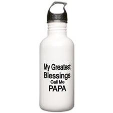 My Greatest Blessings call me PAPA Water Bottle