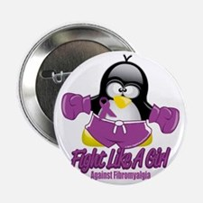 "Fibromyalgia-Fighting-Penguin 2.25"" Button"