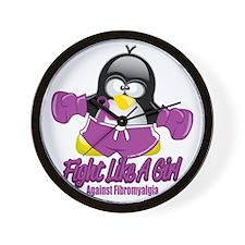 Fibromyalgia-Fighting-Penguin Wall Clock