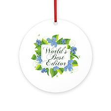 b1_summer_frame_01worlds best edito Round Ornament