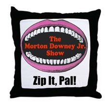zipitloudmouth Throw Pillow