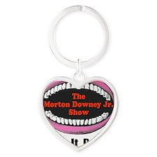 zipitloudmouth Heart Keychain