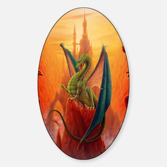 Dragon and Sentinels Sticker (Oval)