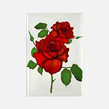 Rose Red Rectangle Magnet