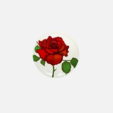 Rose Red Mini Button (10 pack)