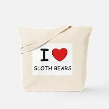 I love sloth bears Tote Bag