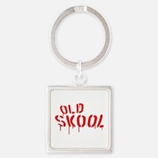 Old Skool Square Keychain