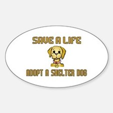 Shelter Dog Oval Decal