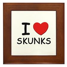 I love skunks Framed Tile