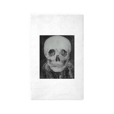 Skull Couple Metamporphic Victorian Goth Illusion
