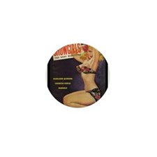 Showgirls Retro Pin Up Burlesque Dancer Mini Butto