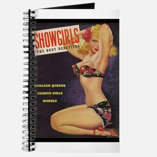 Showgirls Retro Pin Up Burlesque Dancer Journal