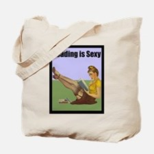 Reading is Sexy Pin Up With Book Hot Nerd Tote Bag