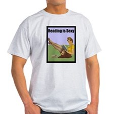 Reading is Sexy Pin Up With Book Hot Nerd T-Shirt