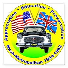 """GBAM Appreciation logo Square Car Magnet 3"""" x 3"""""""